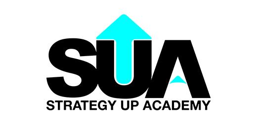 Strategy Up Academy - Logo Cyan Upward Arrow